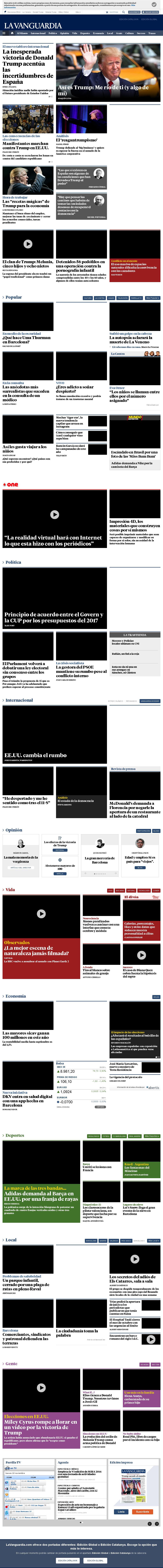 La Vanguardia at Thursday Nov. 10, 2016, 8:25 a.m. UTC