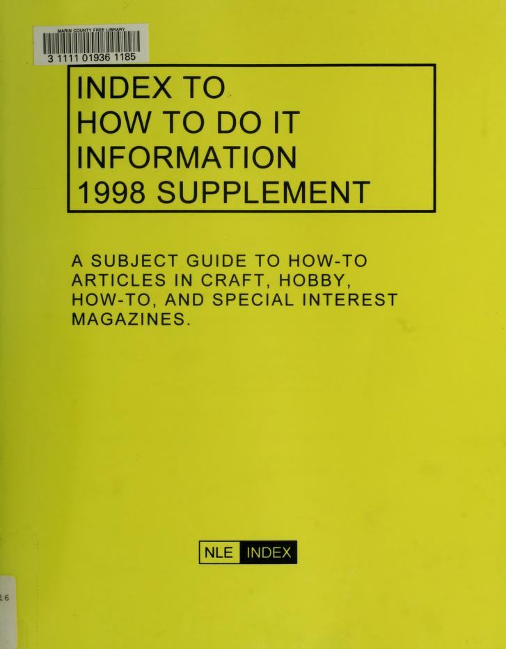 Index to how to do it information by Norman M. Lathrop